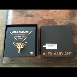 NWT Alex and Ani Spirited Skull Necklace